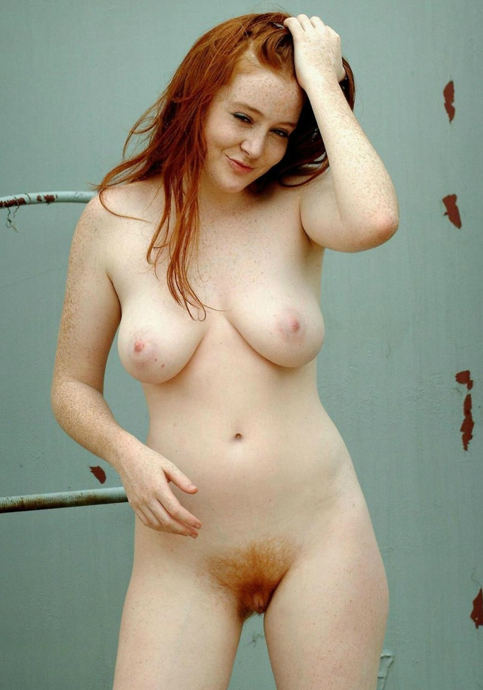 Hair nude red woman